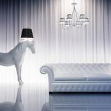 Vintage baroque modern chic atmpspheric interior horse horse