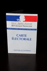 carte de vote sur fond noir - élections présidentielles