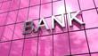 Spiegelfassade Pink - Bank Konzept