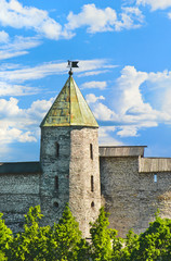 Tower of the Pskov Kremlin. Russia