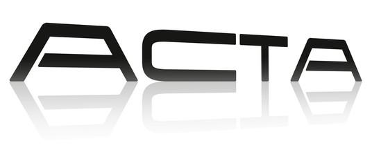 Acta, Symbol, Schriftzug