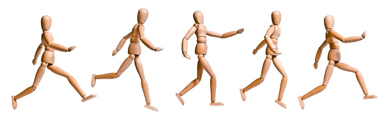 Wood Doll with Various Walking and Running Pose - Set 1