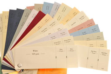 Colored Samples Of Paper And Card For Printing