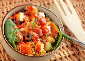 Fresh Mediterranean Salad and vegetables