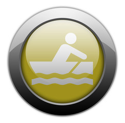 "Yellow Metallic Orb Button ""Rowboating"""