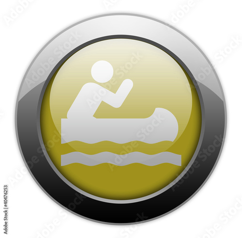 "Yellow Metallic Orb Button ""Caneoing"""