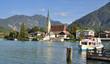 canvas print picture - das bekannte Rottach-Egern am Tegernsee