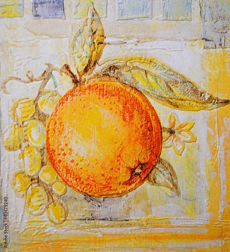 Obraz Orange painting