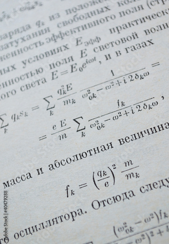 Close-up of physics textbook