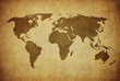 vintage map of the world.