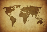 Fototapety vintage map of the world.