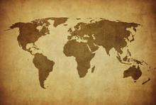Vintage Karte der Welt