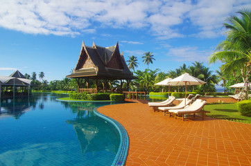 pool in hotel  Thailand