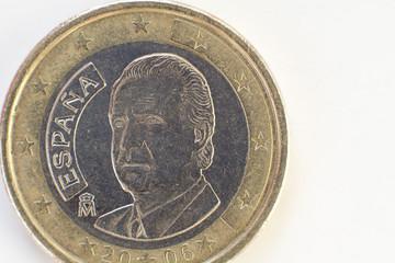monedas de 1euro  parte trasera macro