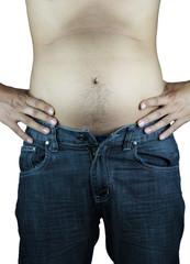 Big fat stomach asian man