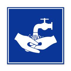 Señal lavarse las manos