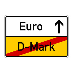 ortsschild d-mark euro I