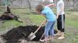 digging gardening children