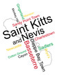 Saint Kitts and Nevis map and cities