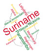 Suriname map and cities