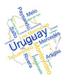 Uruguay map and cities