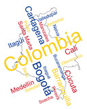 Colombia map and cities