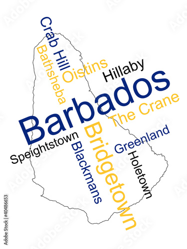 Barbados map and cities
