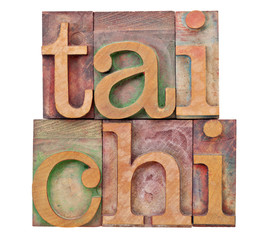 tail chi in letterpress type
