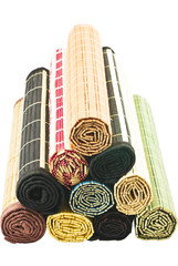 colored bamboo napkins