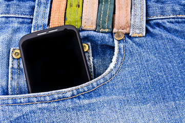 Mobile phone in your pocket jeans