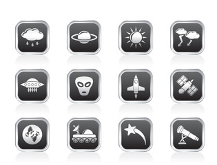 Astronautics and Space and univerce Icons
