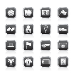 football, soccer and sport icons - vector icon set