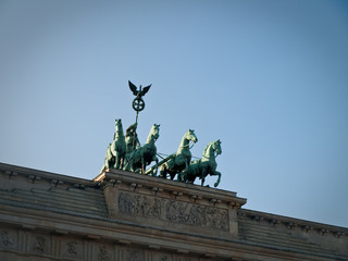 Front View of Brandenburg Gate Quadriga Chariot