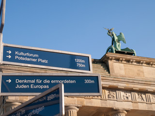 Direction Sign by Brandenburg Gate