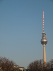 Berlin TV Tower, Germany with Copyspace