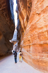 al-Siq - narrow passage to ancient city Petra