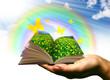 mano con libro natura