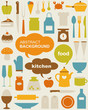 Vector set of various kitchen icons