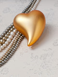 goldenes Herz - golden heart