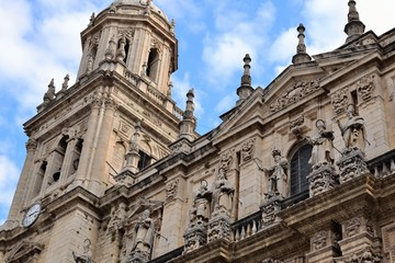 Spanish Cathedral in City of Jaen
