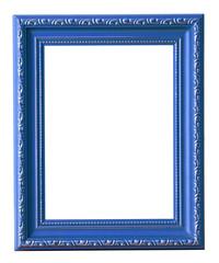 blue photo frame isolated on white