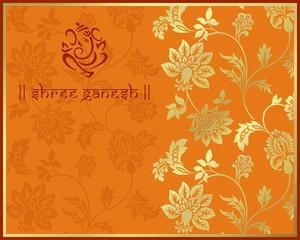 Ganesha, traditional Hindu wedding card design, India