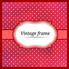 Vintage polka dot frame