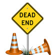 dead end sign and grass