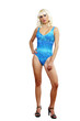 Young slender Woman posing in Swimsuit