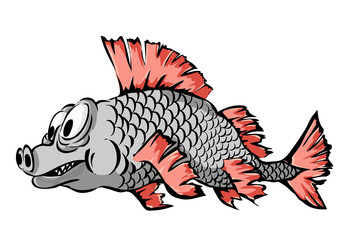 A small fish. Vector illustration.