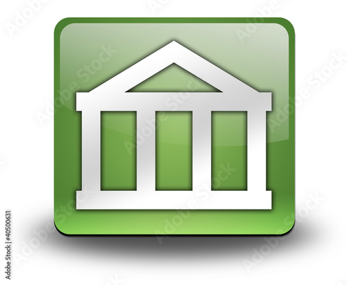 "Green 3D Effect Icon ""Bank"""
