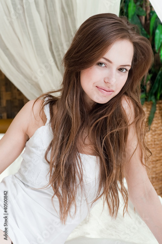 Nice pretty young woman smiling