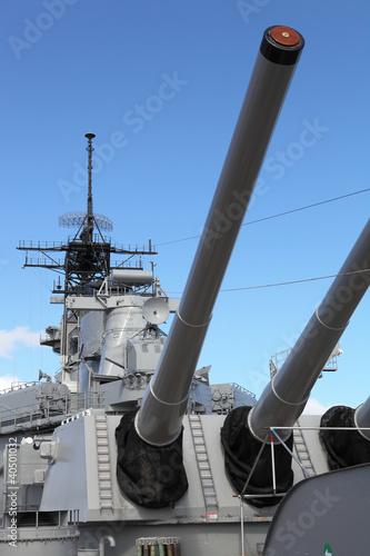 WWII Battleship USS Missouri, Pearl Harbor Poster
