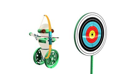 robot arc et cible